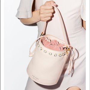 Meli melo faux pearl leather bucket bag